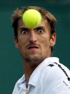 Seems this tenis player will kill the bal