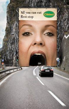 Very funny drive-thru billboard advertisement