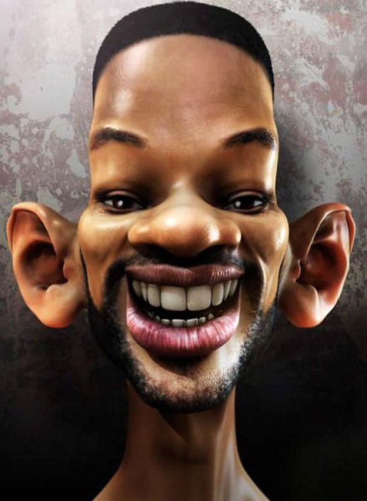 Will Smith Funny Caricatures Celebrity Picture